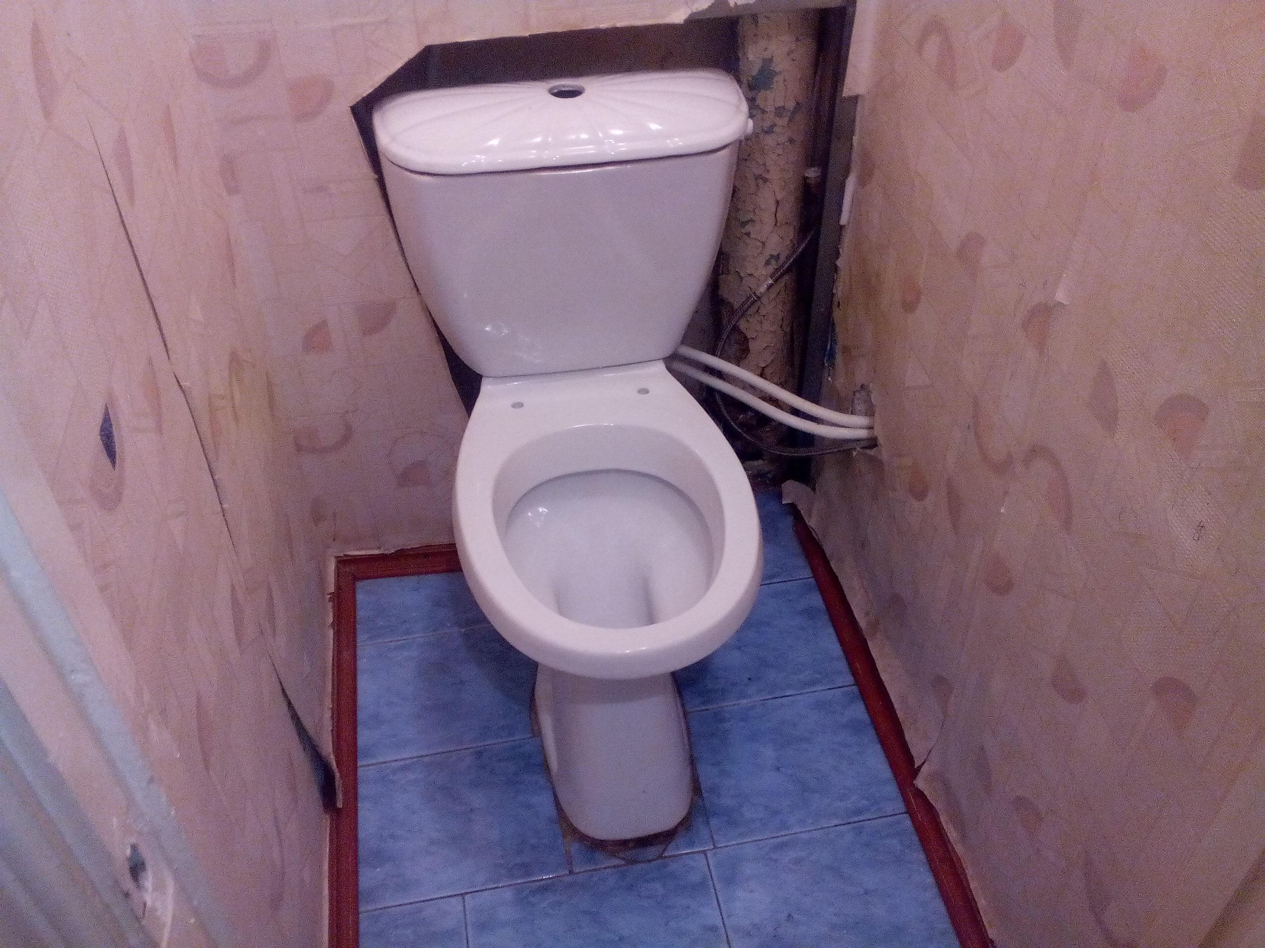 демонтаж старого унитаза Киев